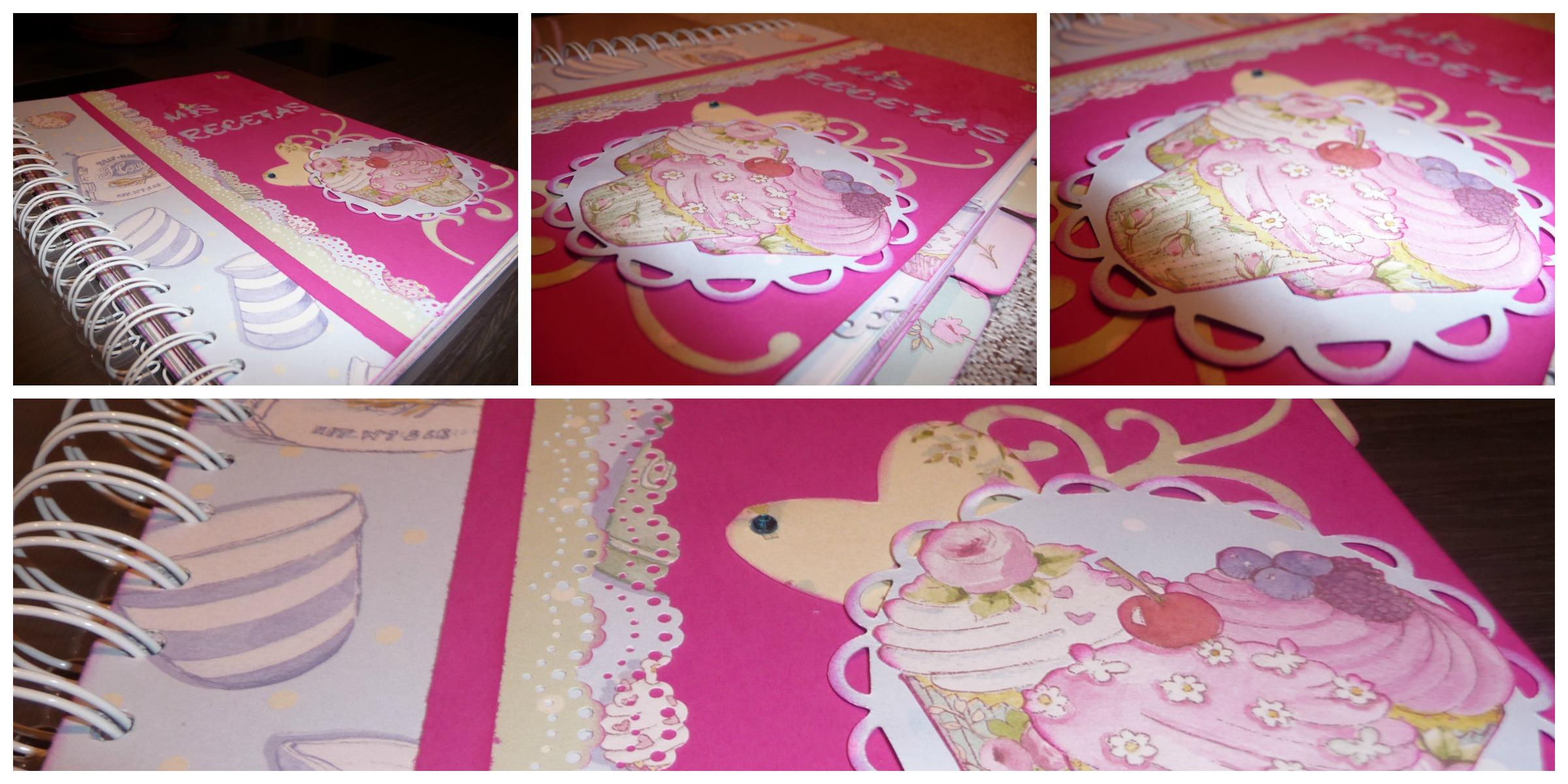 Recetario scrapbook Boutique Cupcake