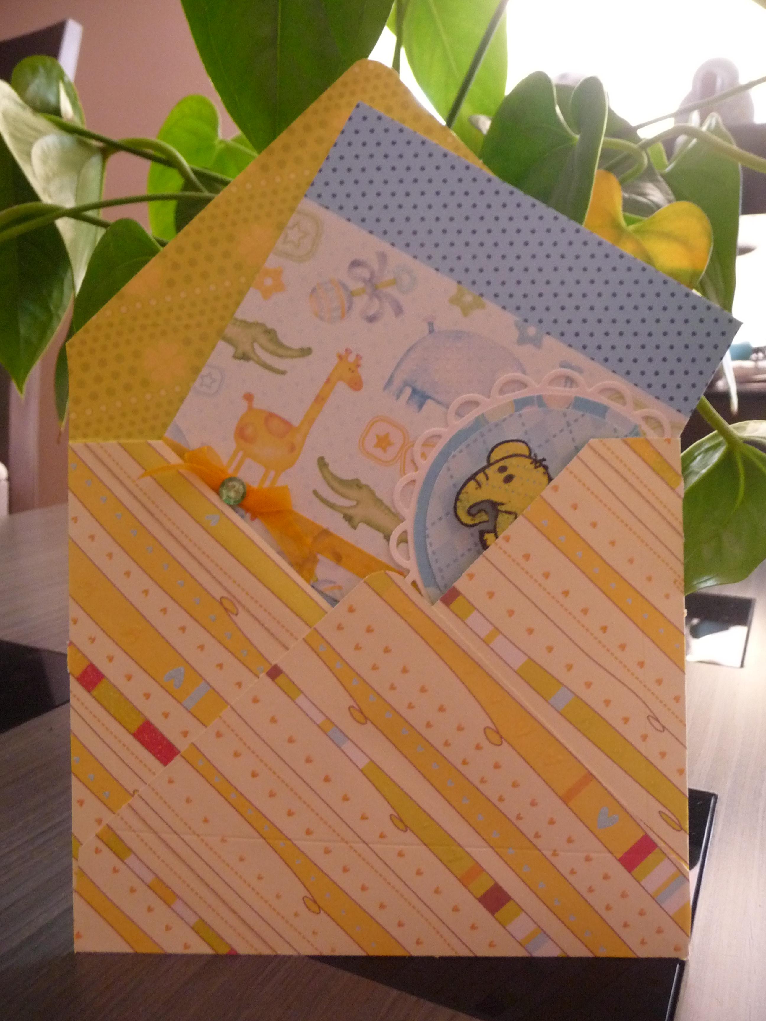 Tarjeta Scrapbook elefante