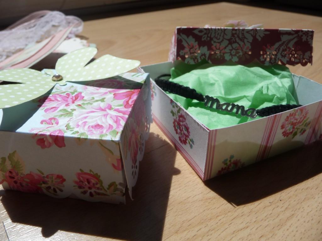 Cajas scrapbook día de la madre