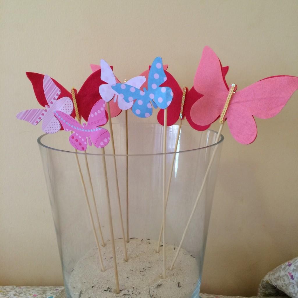detalles para bautizo Top cakes fieltro y scrapbook mariposas bautizo