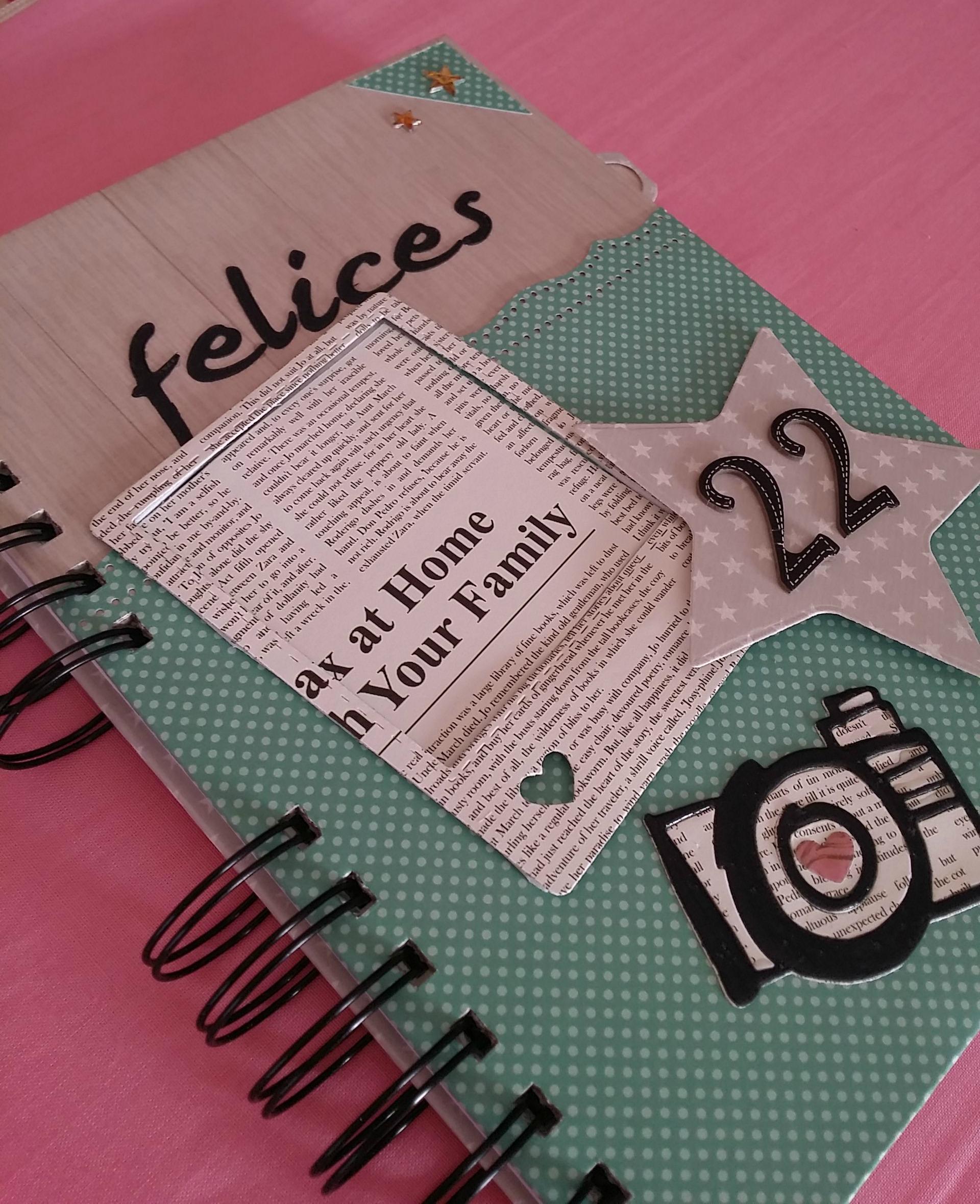 Lbum archives entre mariposas y papeles scrapbook - Decoracion de album de fotos ...