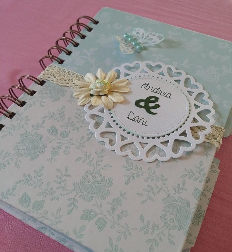 agenda de boda de scrapbook