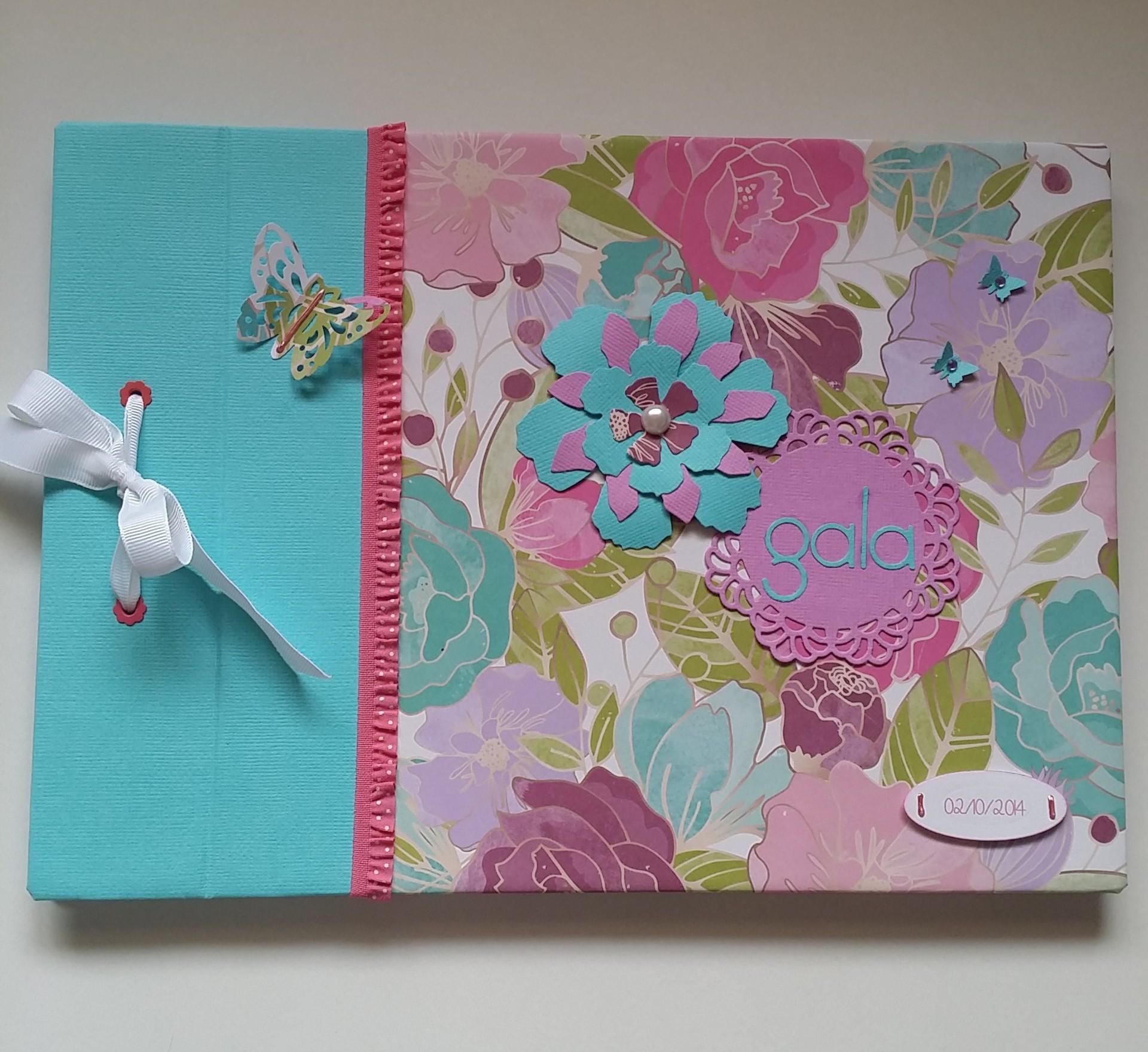 Libro de firmas de scrapbook para cumplea os - Libros para decorar ...