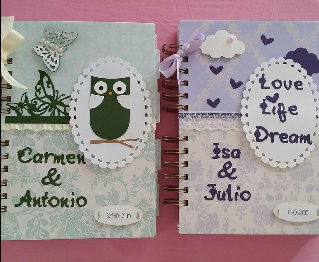 agendas de boda de scrapbook