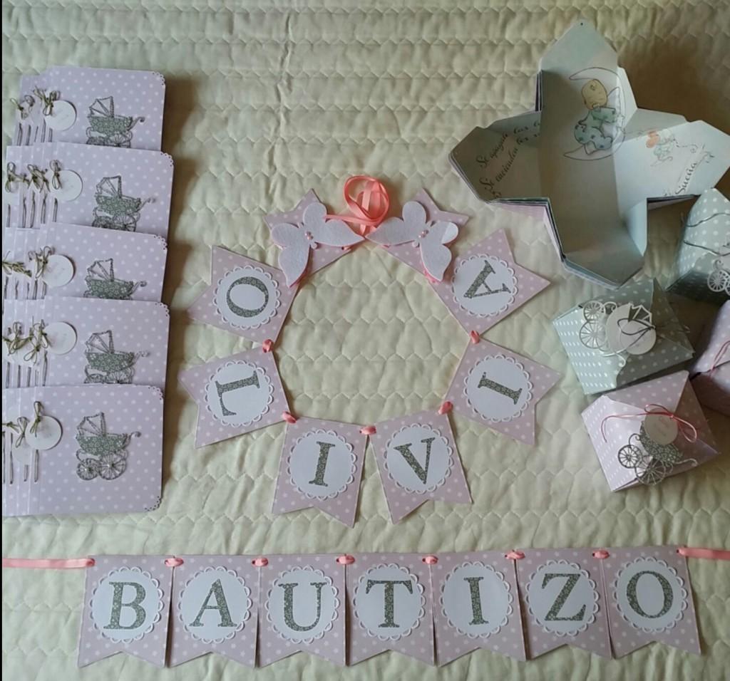 Detalles scrapbook bautizo Olivida
