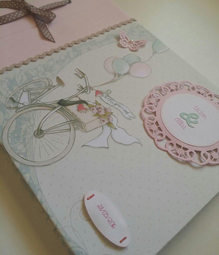 libro de firmas de boda de scrapbook