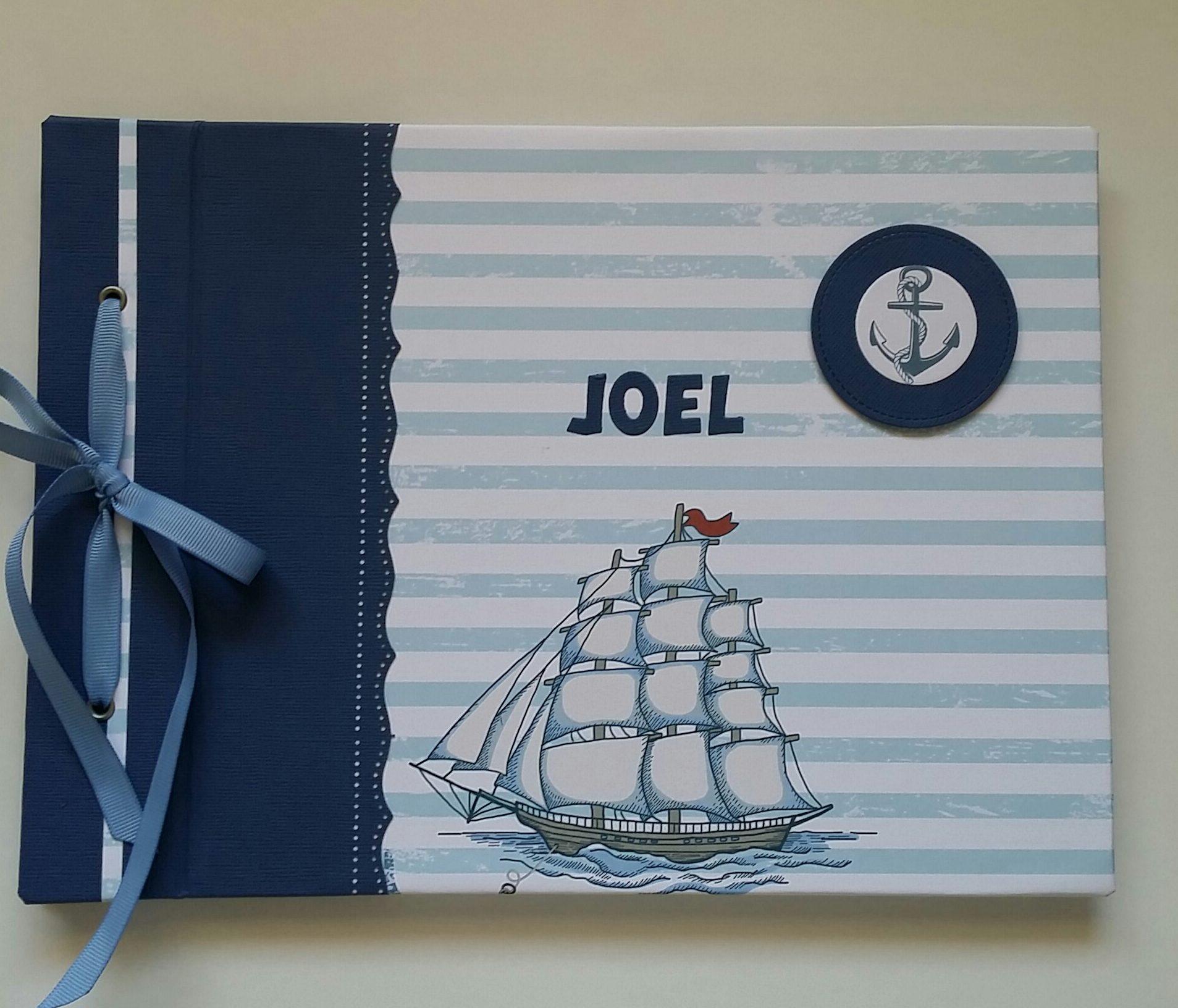 Libro de firmas de scrapbook para la comuni n de joel for Interior libro de firmas comunion