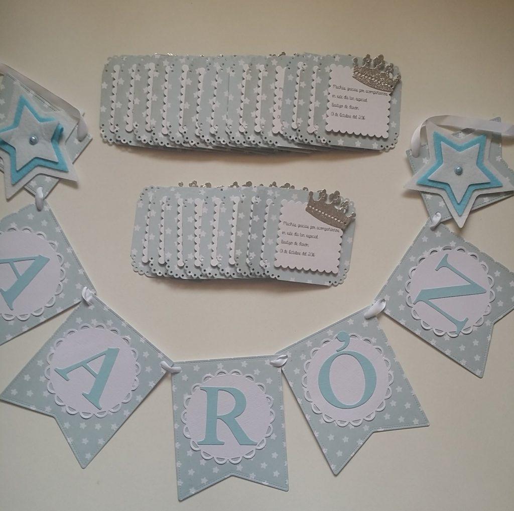 Guirnaldas de scrapbook y letras de luz personalizadas AARON