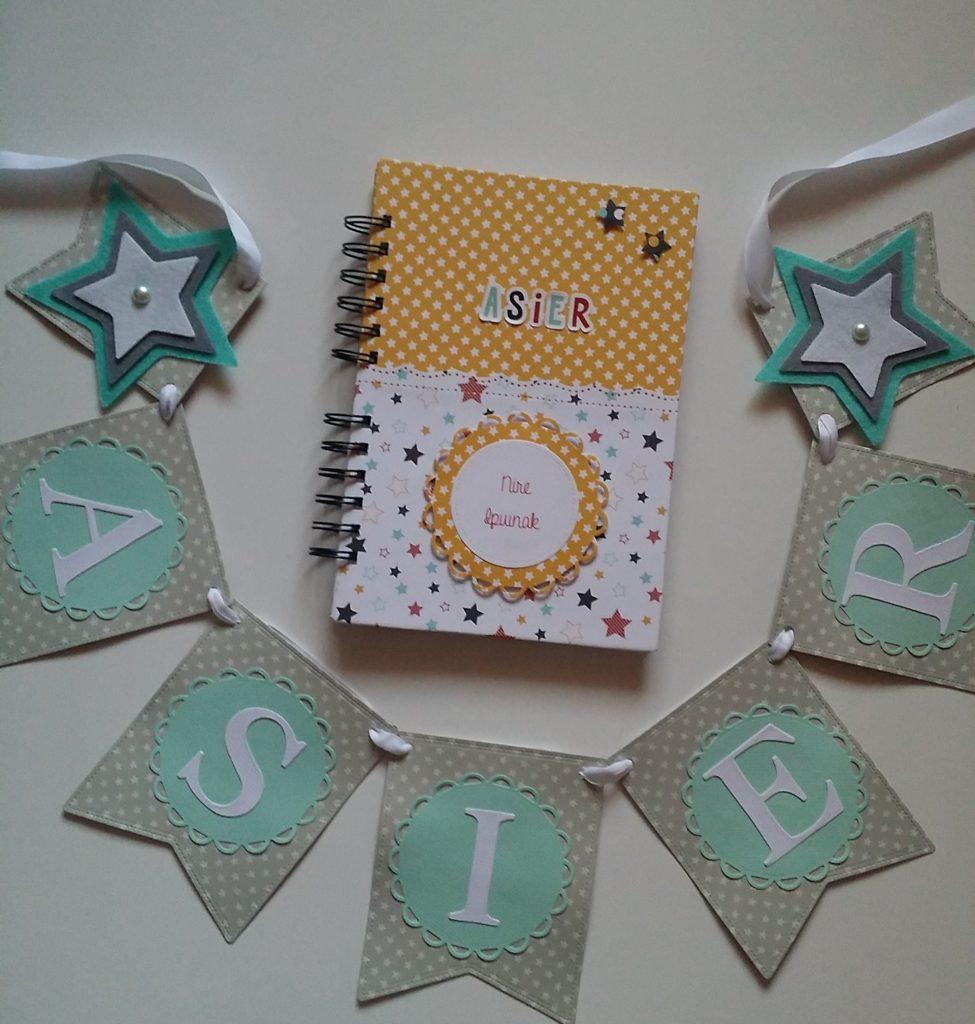 Guirnaldas de scrapbook y letras de luz personalizadas ASIER