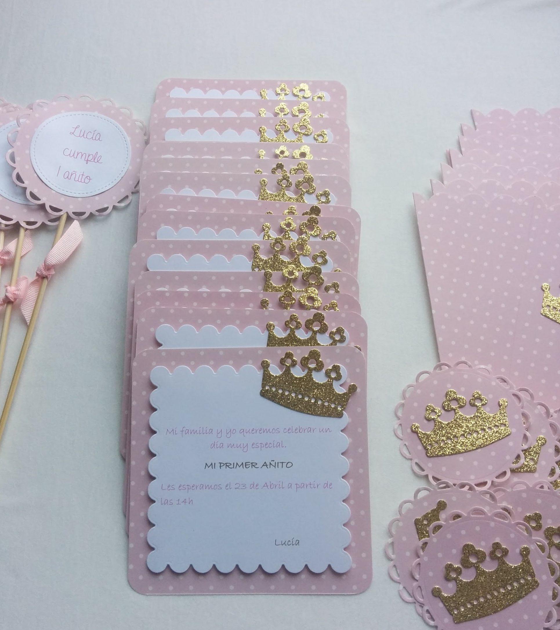 Invitaciones y mas detalles para cumplea os en rosa con for Detalles de decoracion